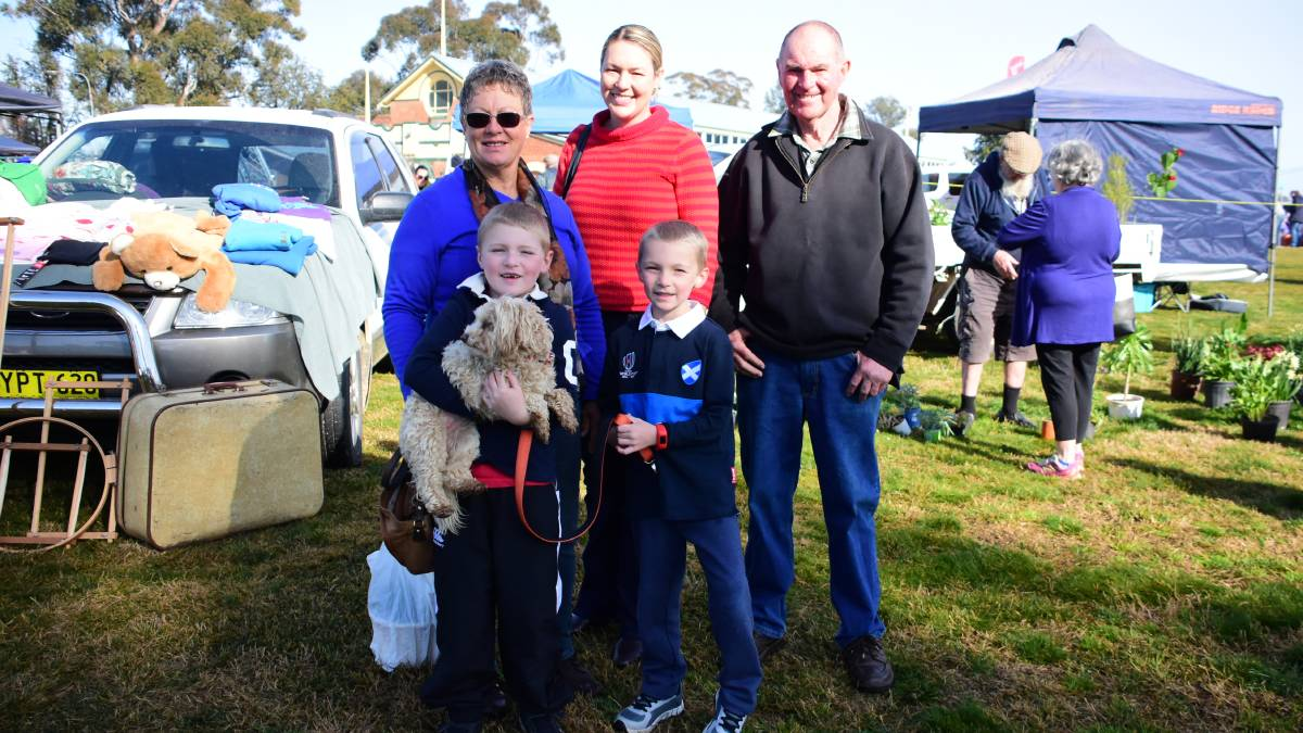The Wallace family at the community markets. File photo.