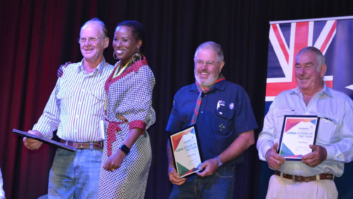 Cowra Citizen of the year challenges young people.